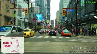 Driving Downtown Toronto on Yonge Street from Queen St. to Finch Ave in Canada 4K 2018