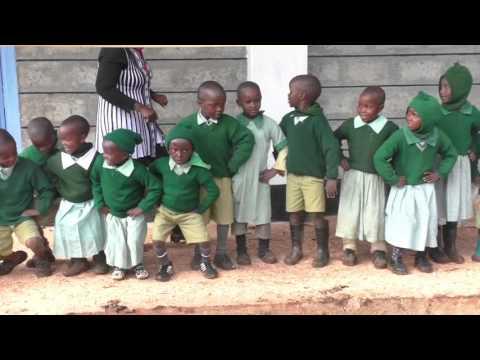 Mweiga Primary Ribbon Cutting Choir