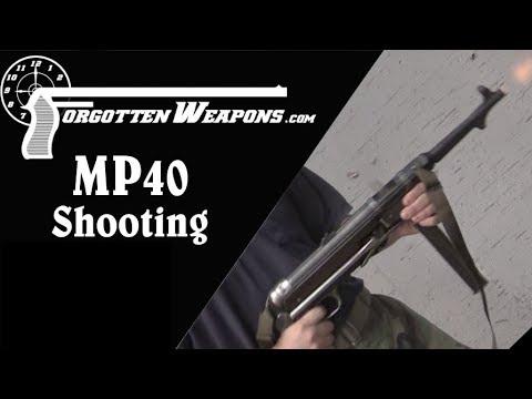 Shooting the 0 Submachine Gun
