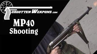 Shooting the MP40 Submachine Gun