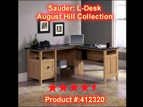 Sauder August Hill L Shaped Desk Review Links In Description