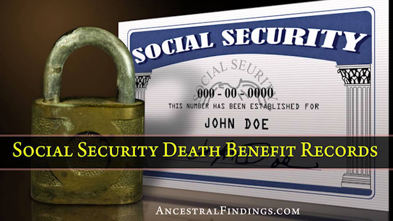 by death number record security social