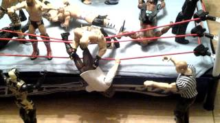Royal Rumble WWE action figure set up
