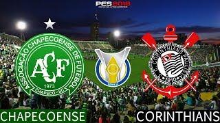 PES 2018 - Chapecoense x Corinthians | Brasileirão 2018 | Gameplay. PS4