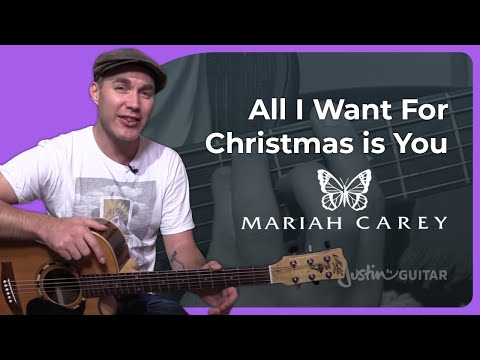 All I Want For Christmas Is You - Mariah Carey - Guitar Lesson (ST-109)