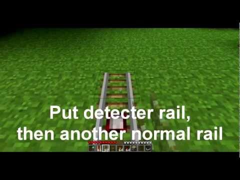 Minecraft Minecart Track Change Tutorial