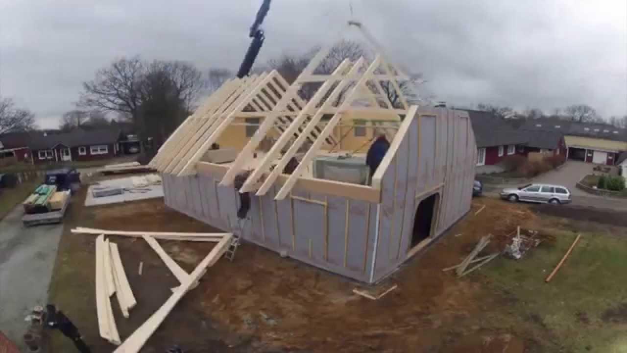 Holzhaus Nord Rohbau Einfamilienhaus In Zwei Tagen Youtube