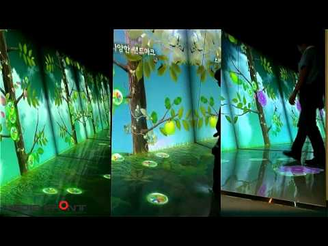 08 multi projection wall & floor interactive