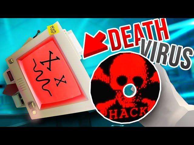 Killing ALL JOB BOT'S with a NEW EVIL DEATH VIRUS!!?! (Job Simulator VR MODS)