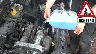Wischwasser im Motor - Der Versuch | Dumm Tüch
