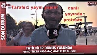 Tarafsız haber yapın! A Haber canlı yayınında vatandaş protestosu
