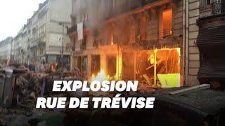 Les images de l'explosion à Paris rue de Trévise