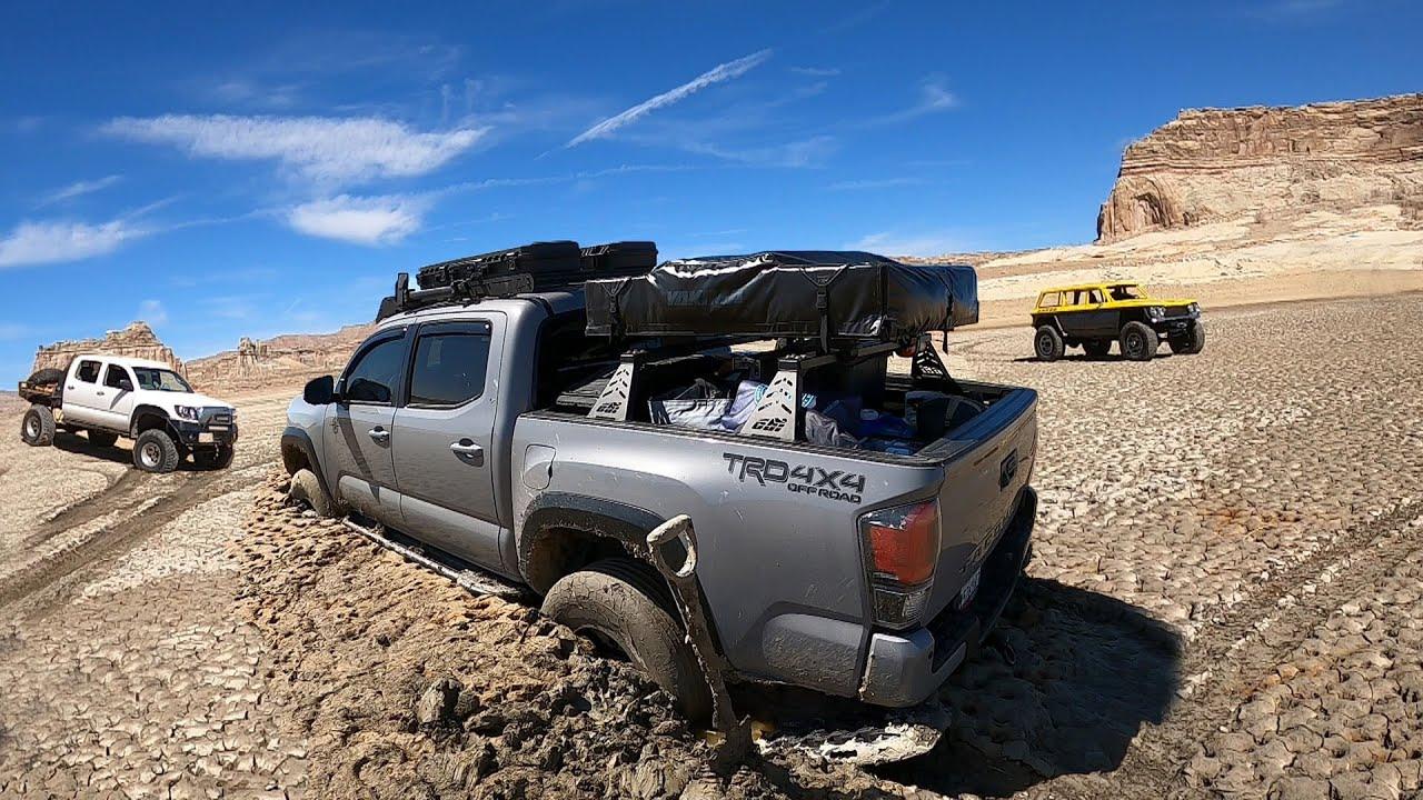Dry Lake Turned to Mud= STUCK TRUCK!