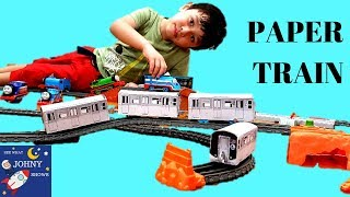 DIY MTA Subway Train Toys From Paper & Thomas & Friends Trackmaster