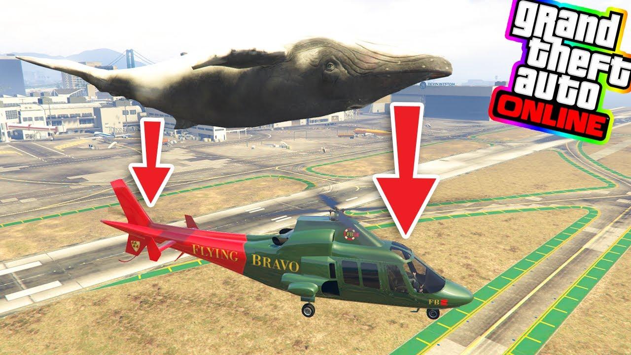 Elicottero Gta 5 : Gta ita può una balena far esplodere un elicottero