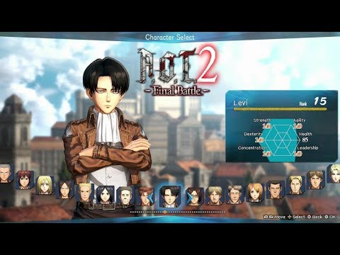 Attack On Titan 2 - Final Battle | All Characters Max Rank