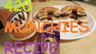 420 munchies peanut butter & banana chocolate donut