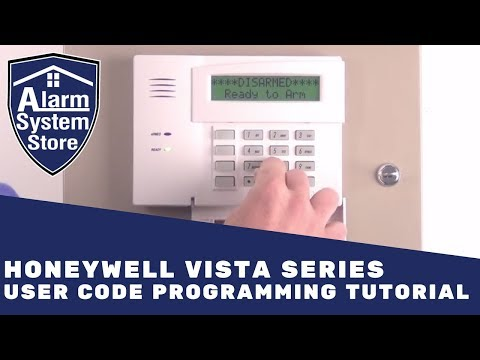Alarm System Store Tech Video - Honeywell Vista User Code Programming