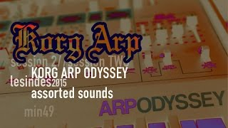 KORG ARP ODYSSEY // Mk. III Filter // assorted sounds //  miniature 49