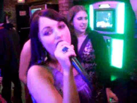 J1 sings karaoke