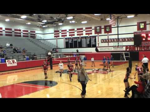 Lauren Evans Skills - Setting against Hebron (Texas 6A 2015 State Champions)