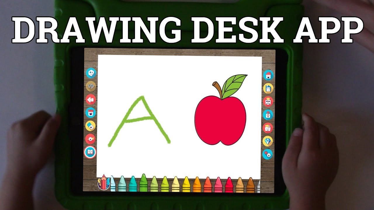 Drawing Desk App Learn To Write The Alphabet And Numbers On The Ipad Youtube