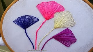 Hand embroidery Stitch: Flower Embroidery