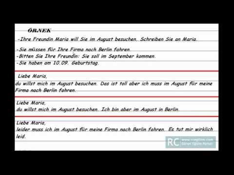 Almanca Mektup Yazmak