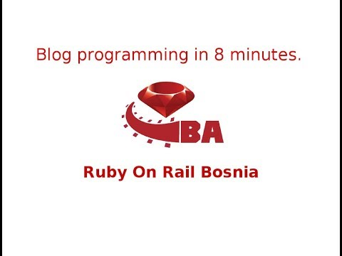 Build Blog in 8 minutes  with  Ruby On Rails  Ruby 2.4.2 Rails 5.1.4