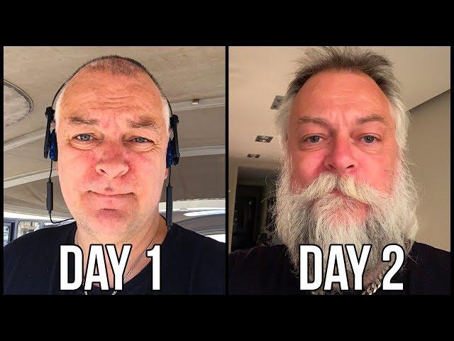 PAPA SHAVES HIS GLORIOUS BEARD (1 YEAR BEARD)