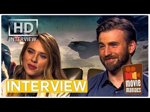 Captain America 2 Stars Play The SUPERHERO GAME | Scarlett Johansson, Chris Evans