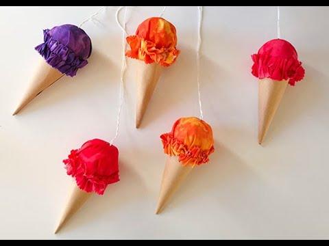DIY Ice Cream Cone Decorations