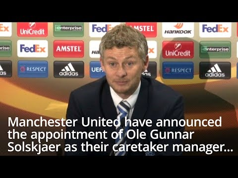 Ole Gunnar Solskjaer Appointed Caretaker Manager Of Manchester United