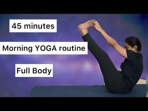 45 minutes YOGA routine   Follow along   Full body   Tamil  137
