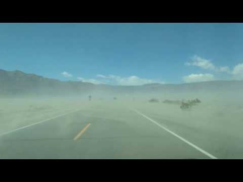 Panamint Valley Sandstorm on California Hwy 190 (west of Death Valley)
