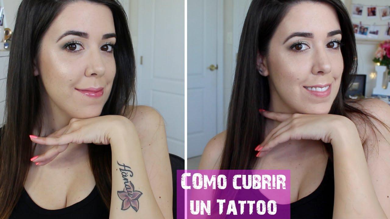 cubrir tatuajes con maquillaje