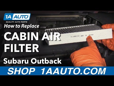 How to Replace Cabin Air Filter 10-19 Subaru Outback