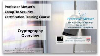 Cryptography Overview - CompTIA Security+ SY0-301: 6.1