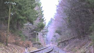 Dampfspektakel 2010 Plandampf Eifelquerbahn Schleudern des letzten Zuges vor Dockweiler Teil 01