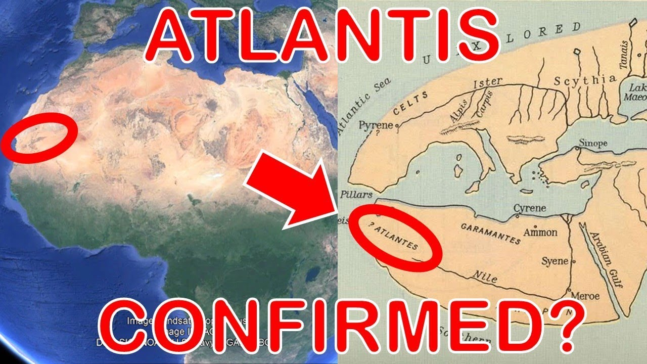 Ancient Map Shows The Lost City of Atlantis is The Eye of The