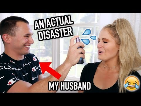 MY HUSBAND DOES MY MAKEUP | WHAT A DISASTER LOL thumbnail