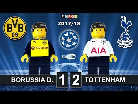 Borussia Dortmund vs Tottenham 1-2 • Champions League 2018 (21/11/2017) BVB Spurs Highlights Lego