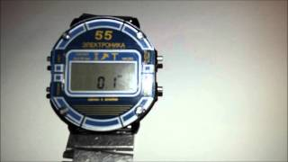 Огляд годин '' Електроніка 55 В '' - настройка точного ходу ( ЦНХ )