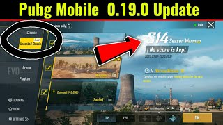 Pubg Mobile New 0.19.0 Update || Get Season 14 Ranking point Free