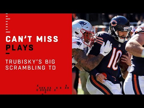 Trubisky Scrambles for a Huge TD & Bears Take the Lead vs. Pats!
