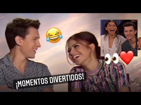 Tom Holland haciendo reír a Zendaya 😂 | Momentos divertidos TH en Español