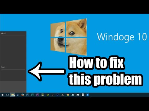 Windows 10 Blank Taskbar Menu Fix