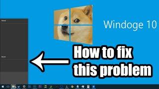 Windows 10 Blank Taskbar Menu Fix