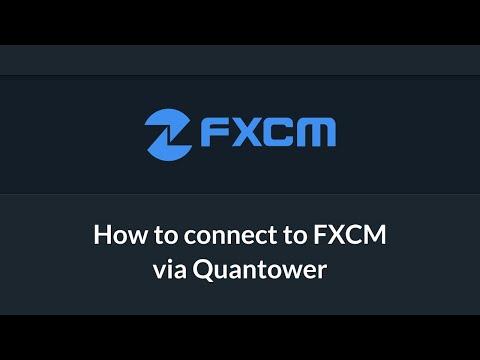 Connection to FXCM broker via Quantower platform