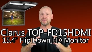 Clarus TOP-FD15HDMI 15.4 Flipdown Car HDMI Monitor